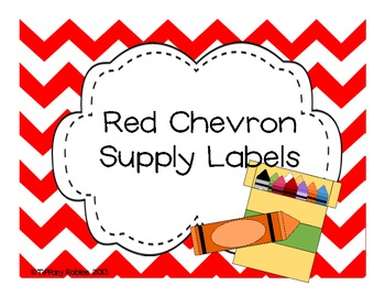 Red Chevron Labels