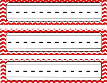 Red Chevron Name Plates