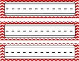 Red Chevron Name Plates