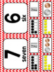 Red Chevron Number Posters 0-20