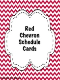 Red Chevron Schedule Cards