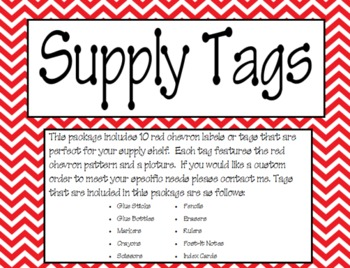 Red Chevron Supply Labels