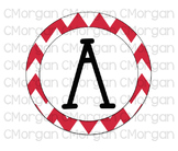 Red Chevron Word Wall