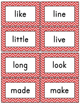 Red Chevron Word Wall (With Editable PDF) with Headers