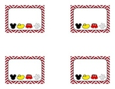 Red Chevron or Mickey Name Tags