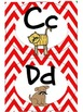 Red Chevron with Mustache Decorating Pack