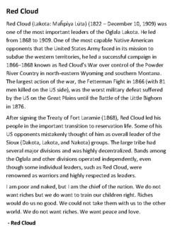 Red Cloud Handout