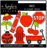 Red Color Clipart {A Hughes Design}