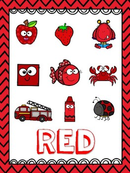 Red (Color) Emergent Reader and Teacher Book