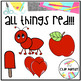 Red Color Objects Clip Art