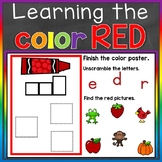 Red Color Recognition Color Word Boom Cards (Learning Colo