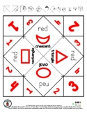 Red Color & Shapes - Cootie Catcher Fortune Teller - 1 pg *o