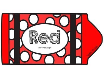 Red Color Song Printable Book