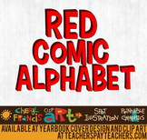 Comic Alphabet Red