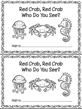 Red Crab Who Do You See - Teacher and Class Book - Ocean Animals