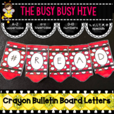 Red Crayon Bulletin Board Letters