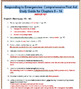 Red Cross Responding to Emergencies: First Aid Study Guide for Chp 8 - 14