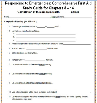 Red Cross Responding to Emergencies: First Aid Study Guide
