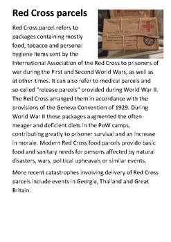 Red Cross parcels Handout
