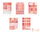 Red Damask Printable Planner Weekly kit Stickers fits Erin Condren