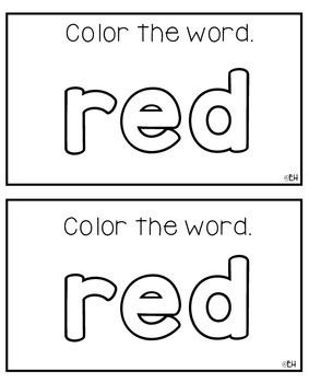 Red Day Emergent Reader Freebie