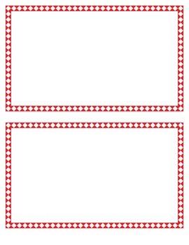 Red Diamond Border Set