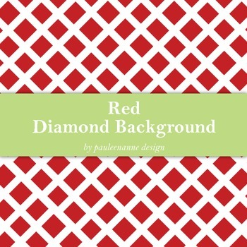 Red Diamond Pattern Background