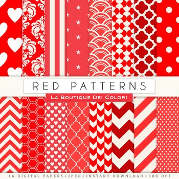 Red Digital Paper, scrapbook backgrounds