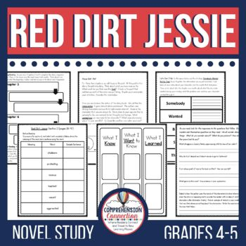 Red Dirt Jessie by Anna Myers Novel Study