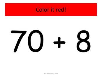 Red Dog Expanded Notation - Watch, Think, Color! CCSS.2.NBT.A.1