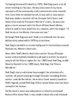 Red Dog Handout