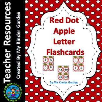 Red Dot Apple Alphabet Letter Flashcards