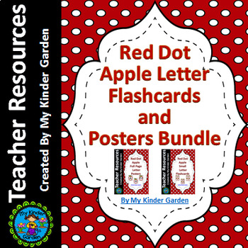 Red Dot Apple Alphabet Letter Flashcards and Posters Bundle