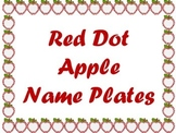 Red Dot Apple Name Plates