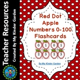 Red Dot Apple Math Number Flashcards 0-100