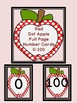 Red Dot Apple Number Flashcards and Posters Bundle 0-100