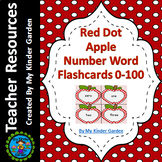 Red Dot Apple Math Number Word Flashcards Zero To One Hundred