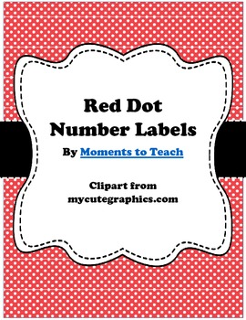 Red Dot Number Labels