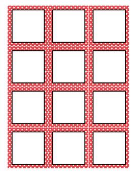 Red Dot Number Labels