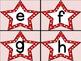 Red Dot Star Alphabet Letter Flashcards