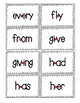 Red Dot Strategy Sight Word Cards - Dolch 1st Grade List
