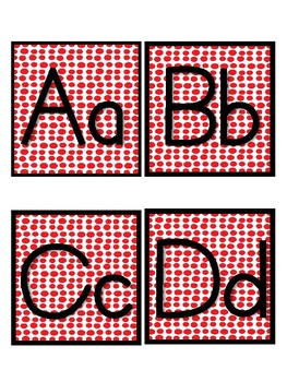 Red Dot Word Wall Letter