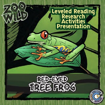 Red-Eyed Tree Frog -- 10 Resources -- Coloring Pages, Reading & Activities
