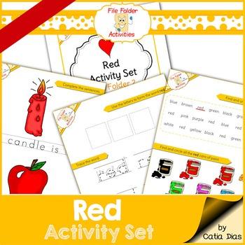 Red - File Folder Activity Set