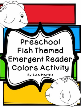 Preschool Fish Themed Emergent Reader Coloring Activity