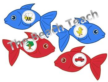 Red Fish Blue Fish Rhyming game