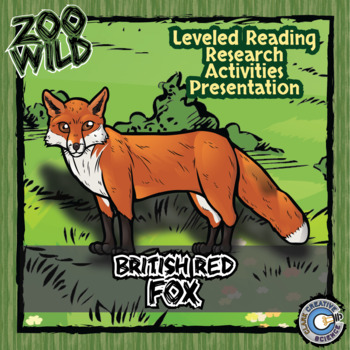 Red Fox - 15 Zoo Wild Resources - Leveled Reading, Slides & Activities