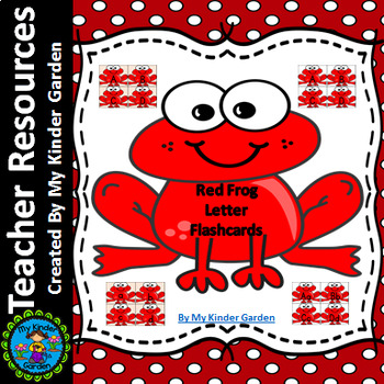 Red Frog Alphabet Letter Flashcards