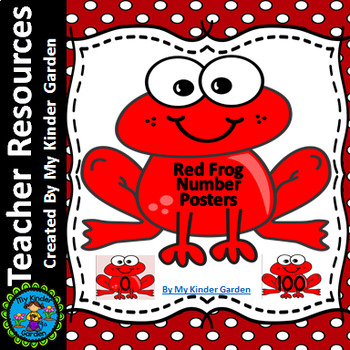 Red Frog Full Page Number Posters 0-100