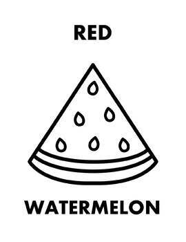 Red Fruits Printable Coloring Pages - Freebie!